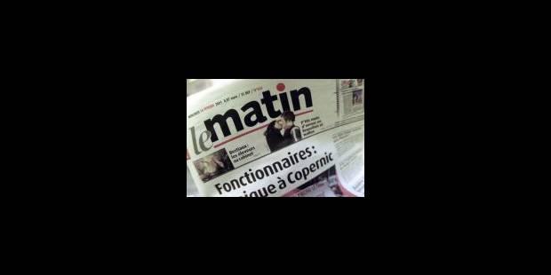 Mort programmée du «Matin» - La Libre