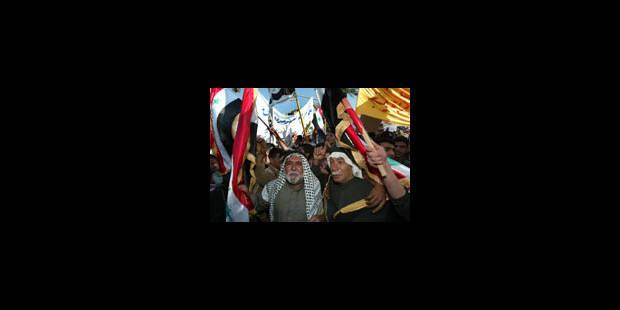 Manifestation pour un gouvernement d'unité nationale - La Libre