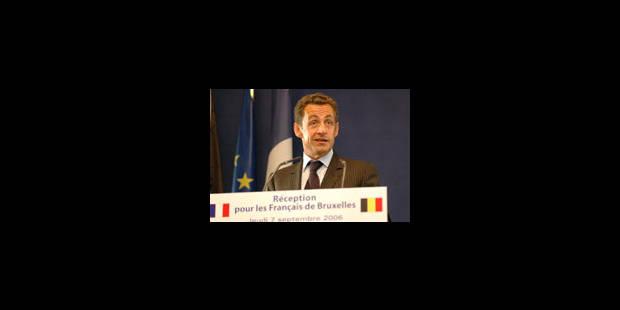 A Bruxelles, le candidat Sarkozy joue la carte européenne - La Libre