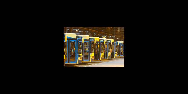 Trafic des trams complètement à l'arrêt - La Libre