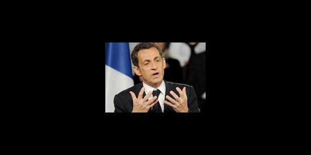 Sarkozy lors d'une visite d'une usine Alstom - La Libre