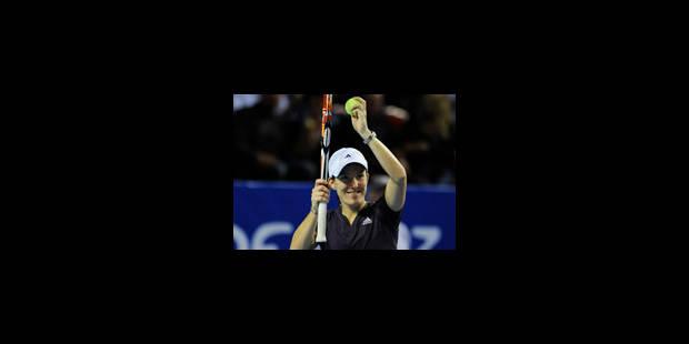 Justine Henin remporte son 1er match - La Libre