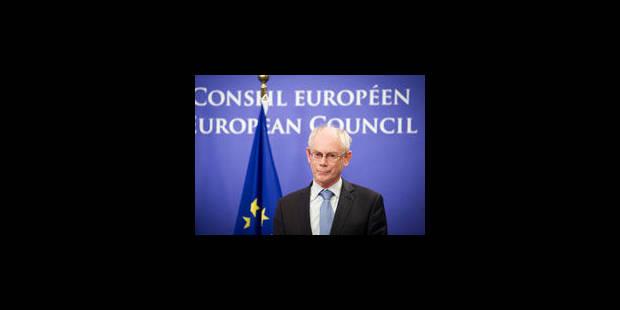 """Herman Van Rompuy: """"en route vers le rétablissement de la confiance"""" - La Libre"""