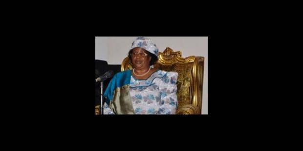 Joyce Banda, nouvelle présidente du Malawi, appelle à la réconciliation - La Libre