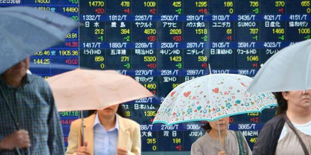 La Bourse de Tokyo termine encore dans le rouge - La Libre