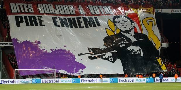 Un tifo polémique lors de Standard-Anderlecht - La Libre