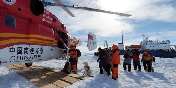 Antarctique: les passagers libérés de l'enfer blanc font route vers l'Australie - La Libre