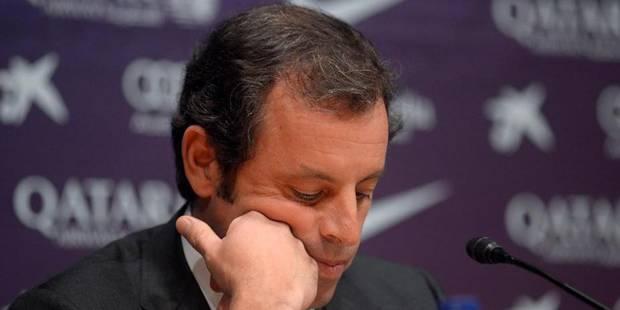 Le président Rosell démissionne du FC Barcelone, son bras droit lui succède - La Libre
