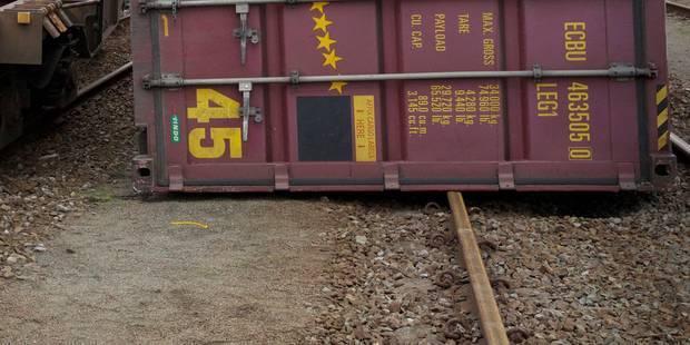 Déraillement d'un train de marchandises à Jemeppe-sur-Sambre - La Libre