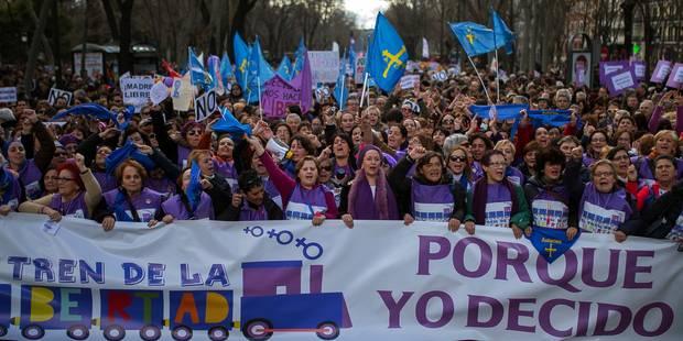 Espagne: grande manifestation pro-avortement à Madrid - La Libre
