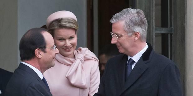 Philippe et Mathilde ont rendu visite à François Hollande - La Libre