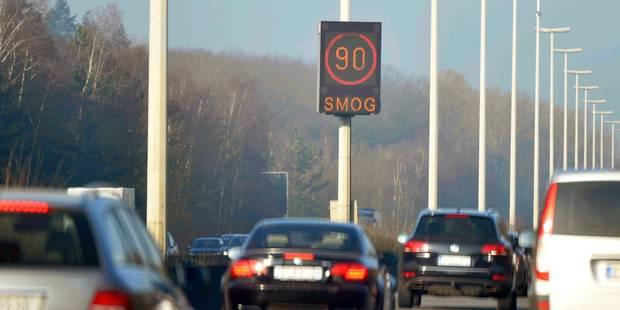 Alerte smog: 14.415 automobilistes en excès de vitesse - La Libre