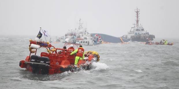 Naufrage d'un ferry en Corée du Sud: le capitaine n'était pas à la barre - La Libre