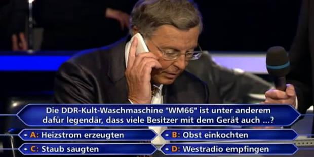 """Coincé à """"Qui veut gagner des millions"""", il appelle... Angela Merkel! - La Libre"""