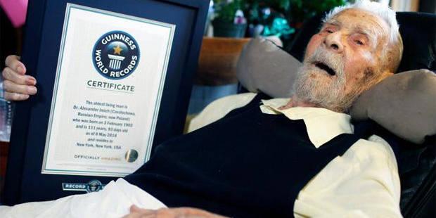 L'homme le plus vieux du monde est mort! - La Libre