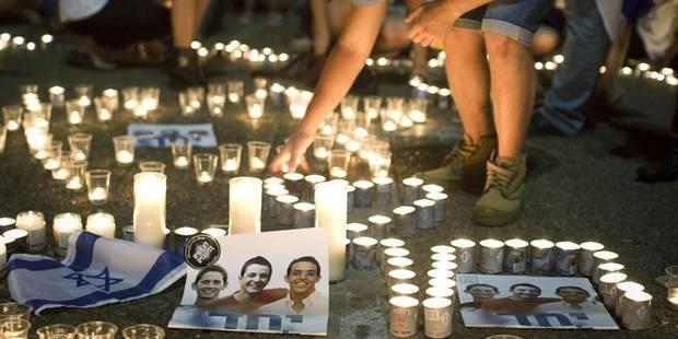 Israël : l'armée se venge déjà de l'enlèvement des trois jeunes à Hébron - La Libre