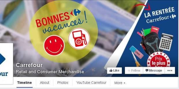 Faute de frappe: Carrefour France dénonce Carrefour... Belgique! - La Libre