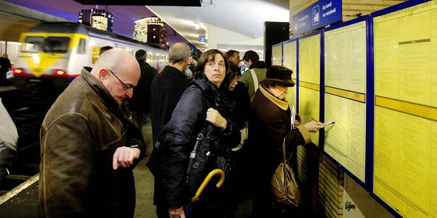 Un train sur quatre est arrivé en retard en 2014 - La Libre