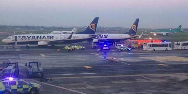 Collision entre deux avions Ryanair à Dublin: un des appareils devait se rendre à Charleroi - La Libre