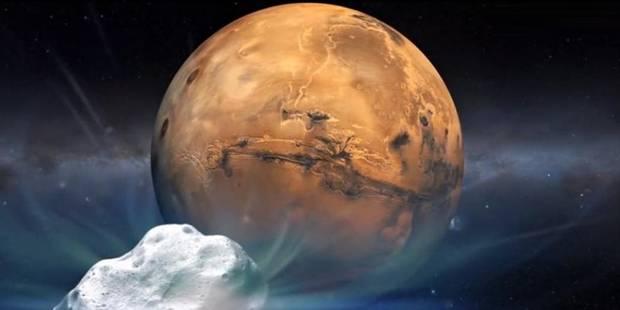 Une comète a rendez-vous ce dimanche avec Mars - La Libre