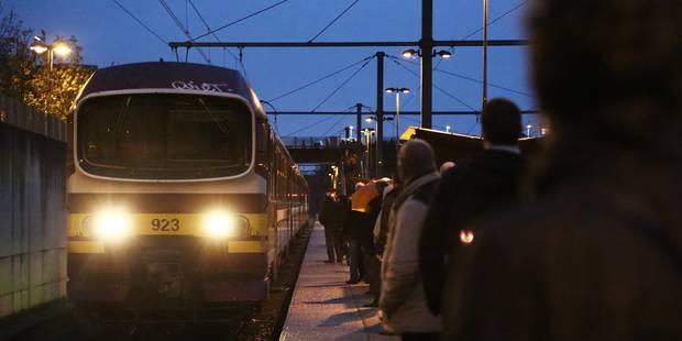 Un train bloqué pour cause de... rails glissants - La Libre