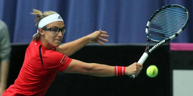 Fed Cup: Kirsten Flikpens assure la victoire belge - La Libre