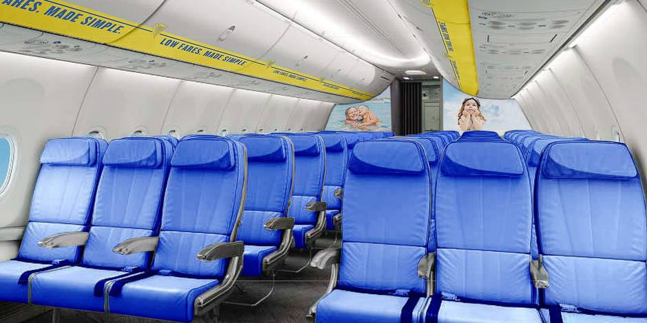 Ryanair va changer son look int rieur la libre for Interieur avion ryanair