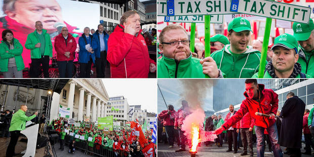 """Grogne syndicale: """"manifestations de masses"""" du 30 mars au 4 avril; Marie-Hélène Ska sifflée par la FGTB - La Libre"""