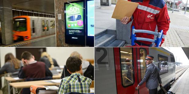 Trains, métros, écoles, poste: journée noire en perspective ce mercredi - La Libre