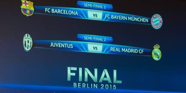 Barça-Bayern et Juve-Real en demi-finales de Ligue des Champions - La Libre