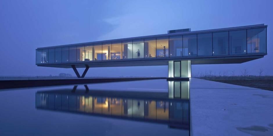 10 maisons futuristes en parfaite osmose avec la nature la libre. Black Bedroom Furniture Sets. Home Design Ideas