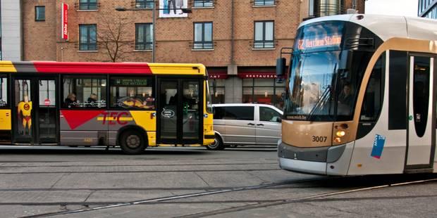 Bruxelles: une collision entre un tram et un bus Tec fait 5 blessés légers à Saint-Gilles - La Libre
