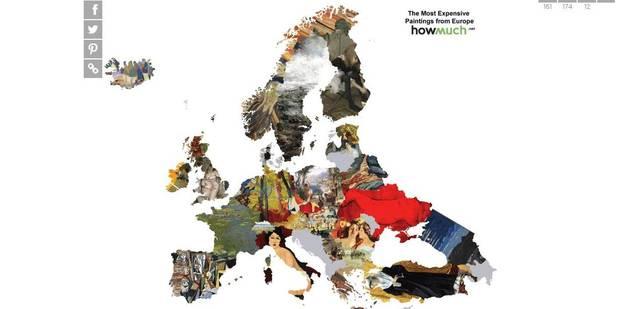 La cartographie des toiles les plus chères du monde - La Libre