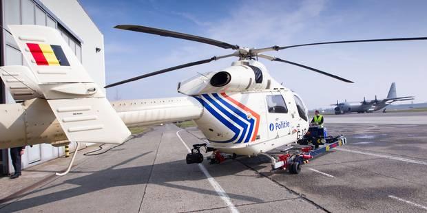 Deux voleurs pris en chasse par l'hélicoptère de la police fédérale à Waterloo - La Libre