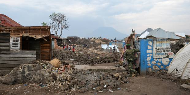 A Goma, dans la zone neutre entre RDC et Rwanda, on pleure les maisons détruites - La Libre