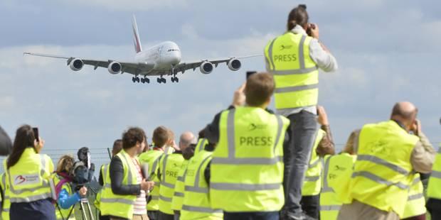 Un vol commercial de l'A380 atterrit pour la première fois en Belgique - La Libre