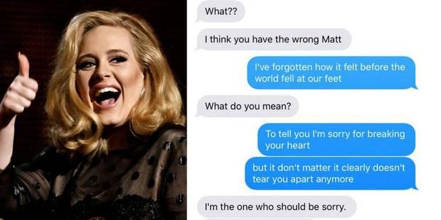 Quand une jeune fille envoie les paroles de la chanson d'Adele à son ex-petit ami - La Libre