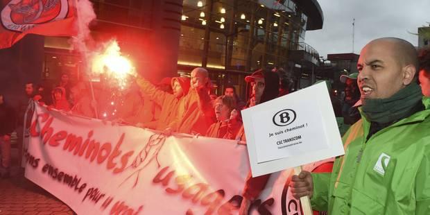Grève du rail: les syndicats, satisfaits de la mobilisation, attendent la réunion de mardi - La Libre