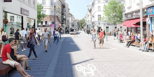 La chaussée d'Ixelles sans voitures - La Libre