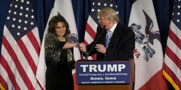 """Sarah Palin soutient le """"maître"""" Donald Trump pour la Maison Blanche - La Libre"""