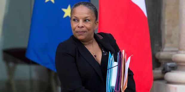 France: la ministre de la Justice, Christiane Taubira, démissionne - La Libre