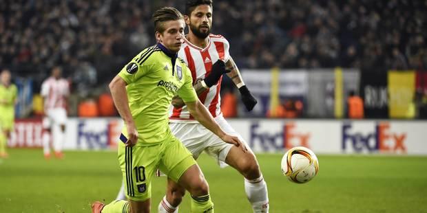 Face à l'Olympiacos, l'Anderlechtois Dennis Praet a joué pour son club, pas pour lui - La Libre