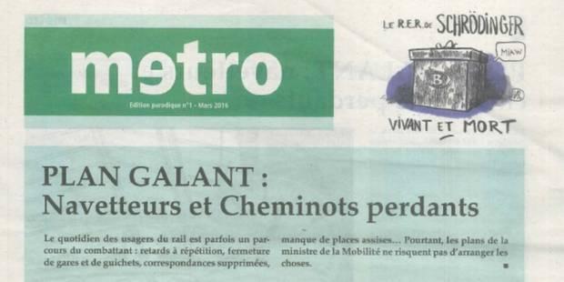 Un faux journal Metro égratigne le plan Galant - La Libre