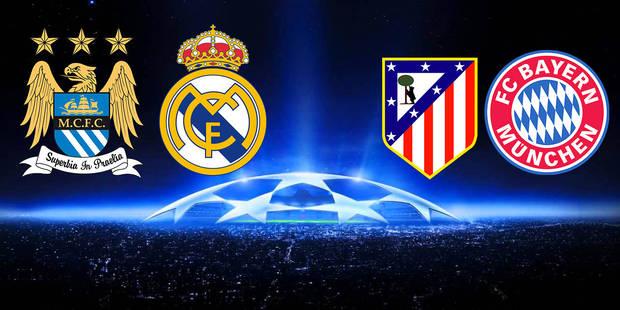Ligue des champions: Manchester City-Real Madrid et Atlético-Bayern Munich - La Libre