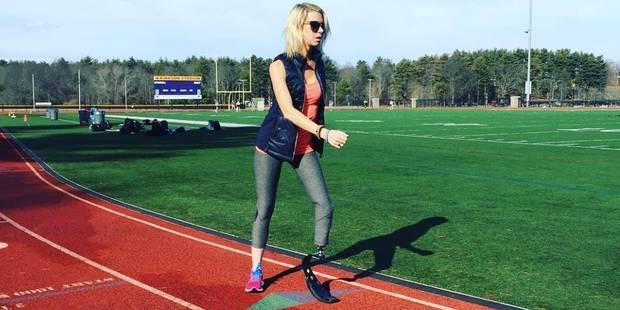 Adrianne a perdu une jambe dans les attentats de Boston mais a couru le marathon 3 ans après - La Libre