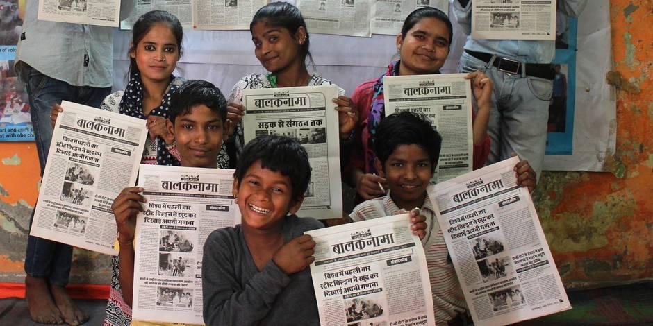 Inde: A Delhi, les enfants des rues font la Une - La Libre