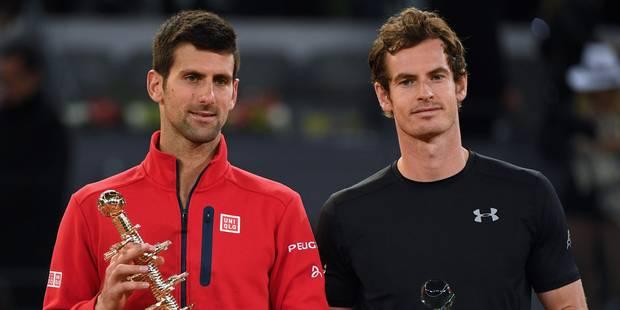 Roland-Garros: Murray-Djokovic, une première en finale à Paris - La Libre