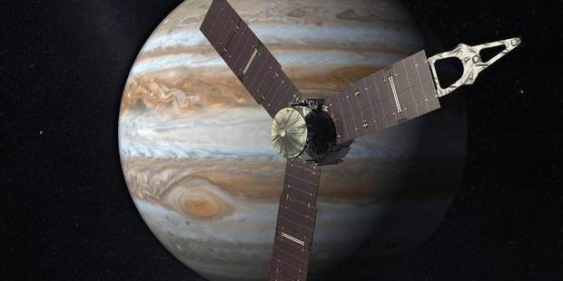 La sonde Juno de la Nasa est en orbite autour de Jupiter - La Libre