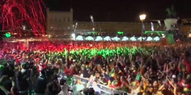 La fan-zone de Lisbonne en totale ébullition au coup de sifflet final (VIDEO) - La Libre