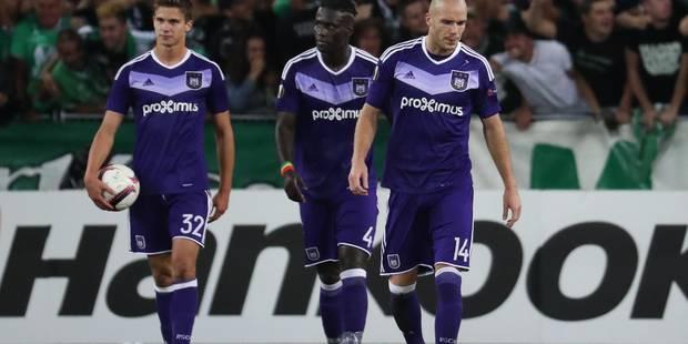 Une énorme boulette coûte deux points à Anderlecht (1-1) - La Libre